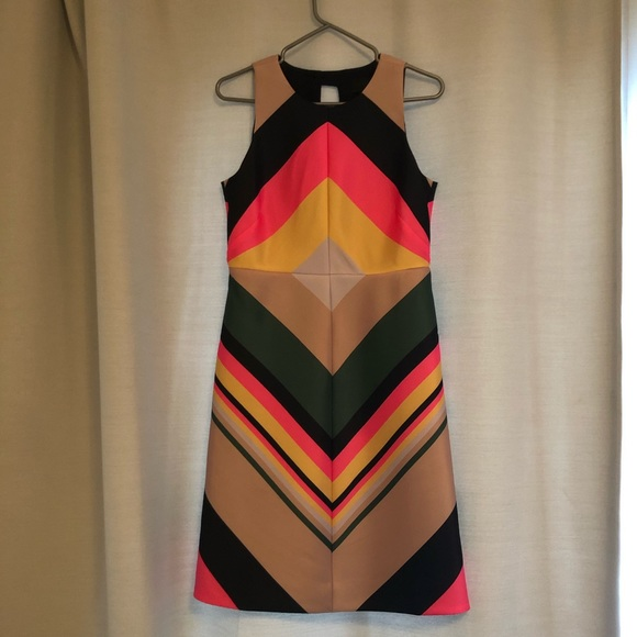 J Crew colourful sleeveless dress